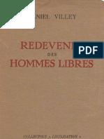 Villey Redevenir Des Hommes Libres