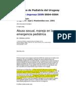Abuso Sexual, manejo en la emergencia médica