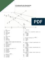 autoevaluación de geometría 1º ESO
