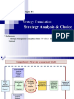 05. Strategy Formulation. Strategy Analysis & Choice (8-10M)