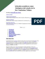 Macroinvertebrados acuáticos como indicadores biológicos del estado de la cuenca del Rio Combeima Tolima