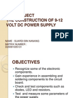The Construction of 9-12 Volt Dc Power Supply