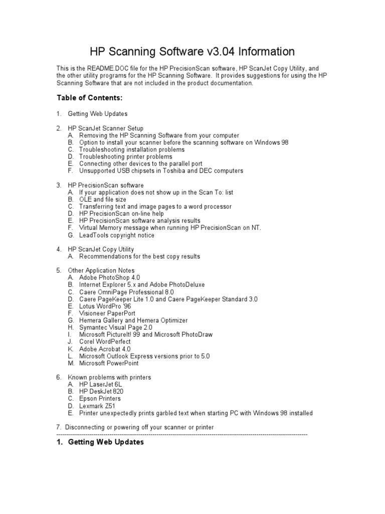 Hp Scan Software Windows 7