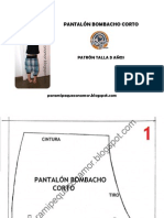 patrón pantalon bombacho corto paramipequeconamor