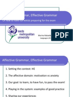 Affective Grammar, Effective Grammar