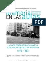 La Clase Trabajadora Durante La Ultima Dictadura Militar
