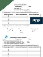 prueba 6° geometría