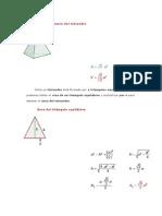 Área y volumen del tetraedro