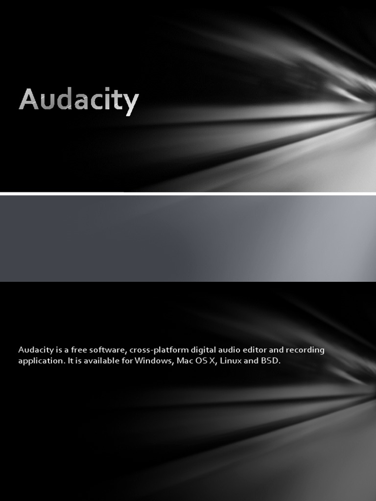 Audacity Digital Audio Mp3 Platform