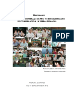 Memoria Del IX Congreso Latinoamericano de Conservación en Tierras Privadas