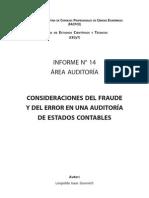 Informe 14 Consideraciones Del Fraude y Del Error en Una Auditoria de Estados Contables