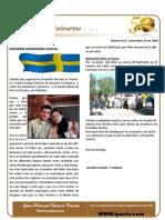 Boletin 52 - Informe Misionero Suecia - Nov 2008