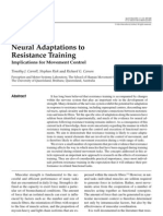 Neural Adaptations to Resistance Training