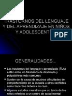 PPT Transtornos del Lenguaje y el Aprendizaje en niños y adolescentes