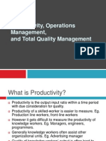 Principles Of Management Production Operations Mgmt and TQM GTU MBA