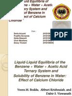 Liquid-Liquid Equilibria of the Benzene + Water +