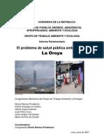 160707 Informe La Salud Publica en La Oroya