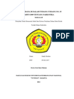 MAKALAH TINDAK PIDANA DI DALAM UNDANG-UNDANG NO. 35 TAHUN 2009 TENTANG NARKOTIKA