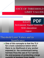 Significance of Threshold Limit Values