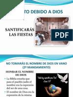 SANTIFICARÁS LAS FIESTAS