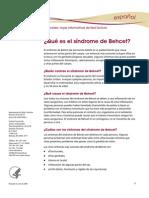 Behcet Syndrome Ff Espanol