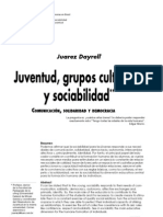 Juarez Dayrell, Juventud, Grupos Culturales y ad