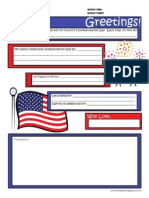 Letter Template 4th of July