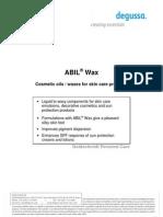 ABIL Wax Formulations