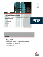 EVCA Reporting Guidelines