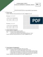 84.1. Sistem Persamaan Linier Dua Variabel