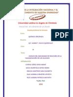 ACTIVIDAD GRUPAL 2 - ANALISIS DEL MECANISMO DE REACCIÓN DE LA HALOGENACION DE LOS ALCANOS