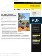 Our report_ Aboriginal Peoples' right to homelands - Amnesty International A
