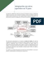 Modelo de integración con otros procesos requeridos en TI