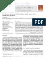 1 D Solar Receiver Analyses
