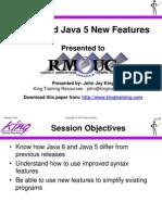 Java 6 Java 5 New Features Slides