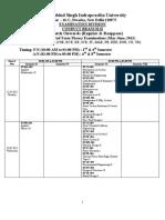 B. Tech. Final Date Sheet - May-June_ 2012