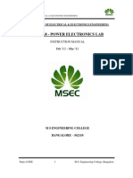 Power Electronics Lab Manual of 4th Sem EEE