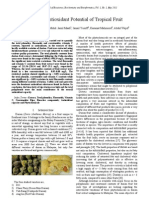 Study of Antioxidant Potential of Tropical Fruit