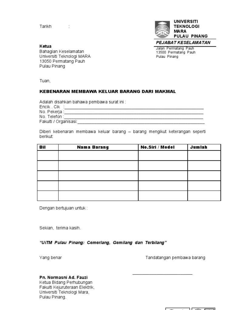 Contoh Surat Jalan Membawa Kayu Surat 34
