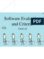 Ch16 - Software Evaluation and Criteria