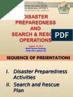 Disaster Preparedness & SARO