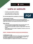Starta en Webbutik