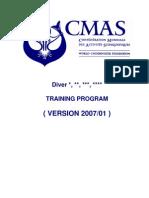 CMAS Diver P1 2 3 4 Training v 2007 01 A
