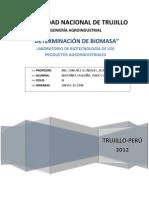 Determinacion de Biomasa