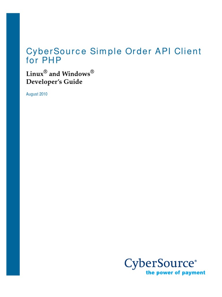 Cyber Source PHP Simple Order Client | Php | Application Programming