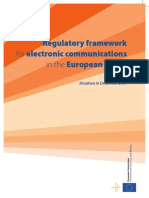 Regulatory Framework for Electronic Communications in the European Union