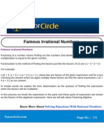 Famous Irrational Numbers