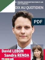 Le programme de David Lebon pour les législatives