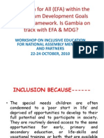 Education for All EFA Within the Gambia
