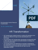 First Generation HR Transformation